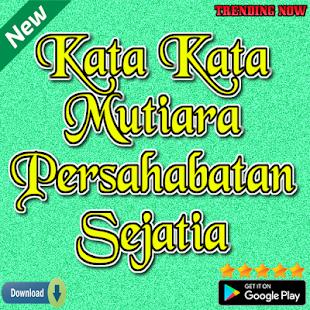 Kata Kata Mutiara Persahabatan Sejati التطبيقات على Google Play