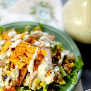 Southwest Salad with Cilantro Lime Dressing.