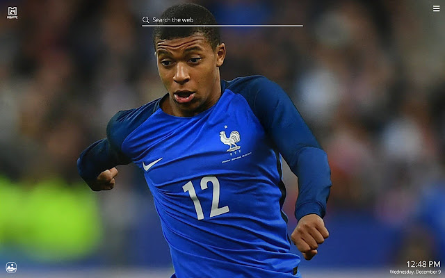 Kylian Mbappe HD Wallpaper New Tab Theme