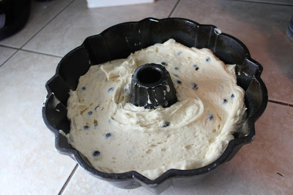 Batter in a bundt pan.