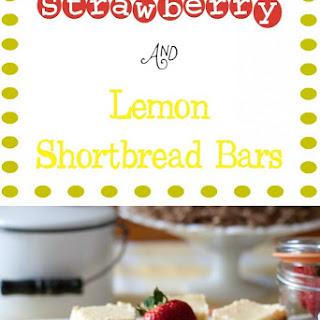 Strawberry and Fresh Lemon Shortbread Bars