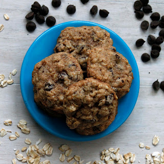 Whole Wheat Chocolate Chip Almond Oat Cookies