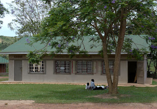 Photo: The new S1 classroom.  So many children did well in primary exams that they decided to double S1.