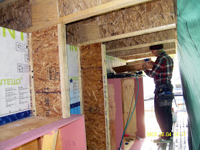 Photo: ... to allow OSB overlap & attachment w/ glued & screwed ply sandwiches.