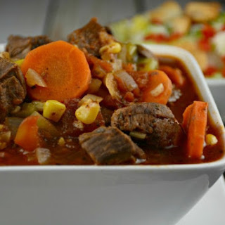 Slow Cooker Creole Steak Stew.