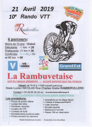 rando VTT de la région de rambervillers La rambuvetaise