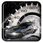 Incredible Silver Roadster Tachometer Theme Icon
