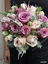 Photo: mixed rose & herb posie fr. €70-90