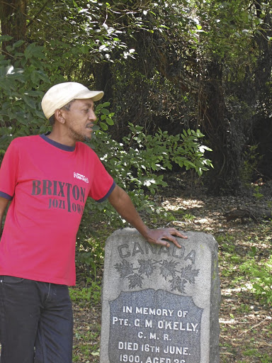 Lest we forget: Sifiso Ntuli provides a tour of the area, ending at the Braamfontein cemetery, on the first Sunday of every month. Picture: STRUAN DOUGLAS