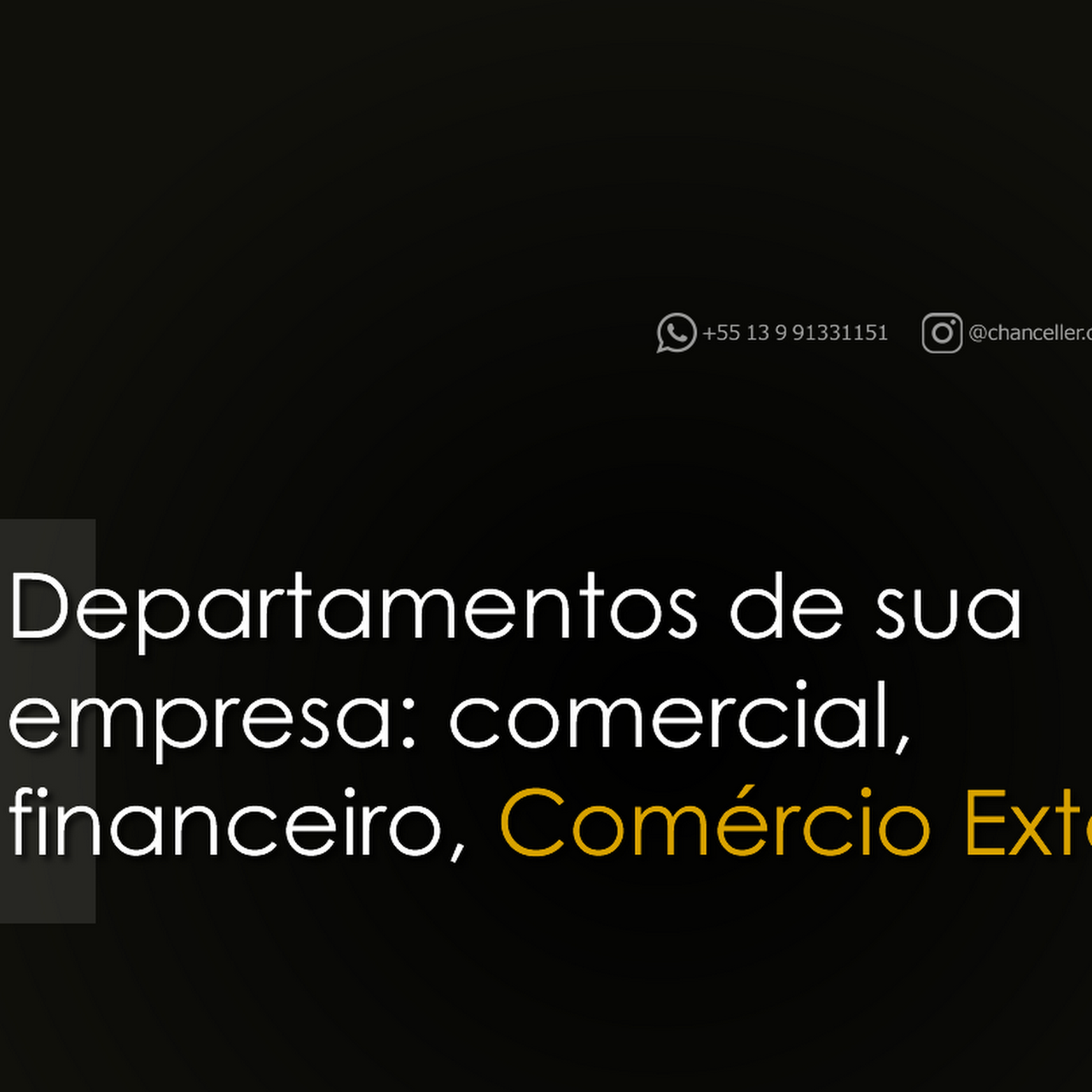 b79af4abc3837 Assessoria Importação Exportação - Chanceller - Empresa ...