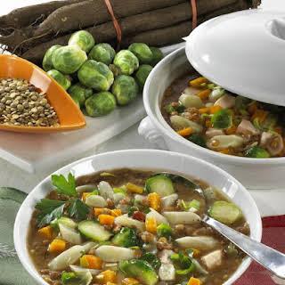 Pork, Lentil and Vegetable Soup.