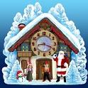 Christmas House Clock widget icon