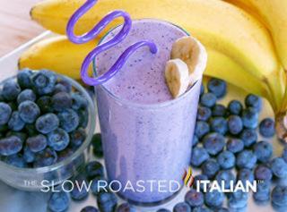 Sweet Blueberry Banana Milk Shake Recipe