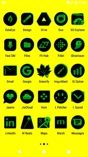 black and green icon pack ✨free✨ screenshot 3