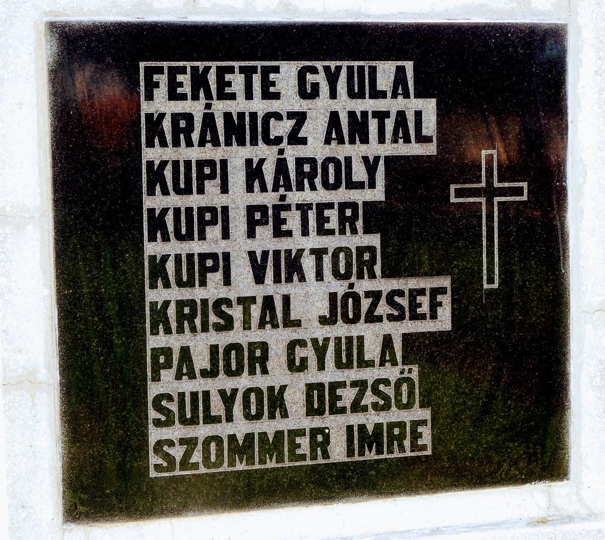 Egervölgy - I. és II. világháborús emlékmű