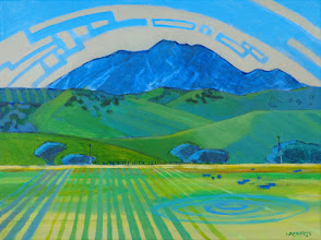 """Photo: """"Diablo from Deer Valley"""", acrylic on canvas by Nancy Roberts, copyright 2015."""