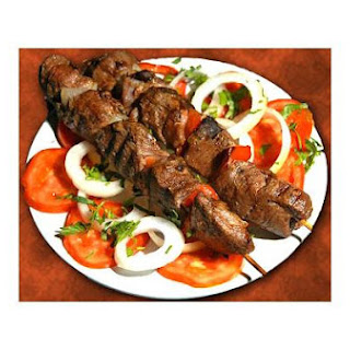 Barbecued Lamb On Skewers