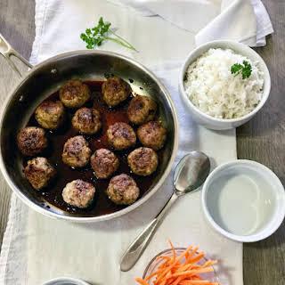 Asian Inspired Pork Meatballs.