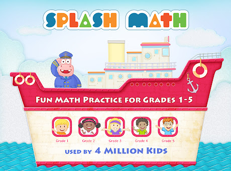 Splash Math - Kindergarten & Grades 1,2,3,4,5