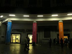 Photo: départ de la gare de Bruxelles 7h00
