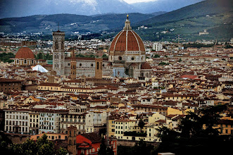 Photo: The Cattedrale di Santa Maria del Fiore raising over the city of Florence; seen from Abbazia di San Miniato al Monte.