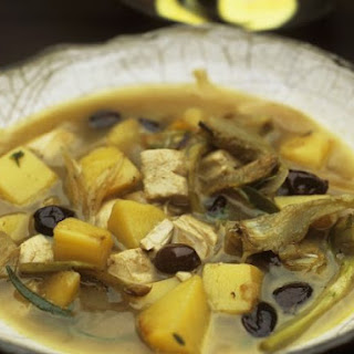 Chicken and Artichoke Broth.