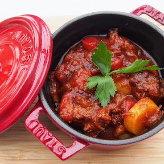 Lamb and Chorizo casserole.