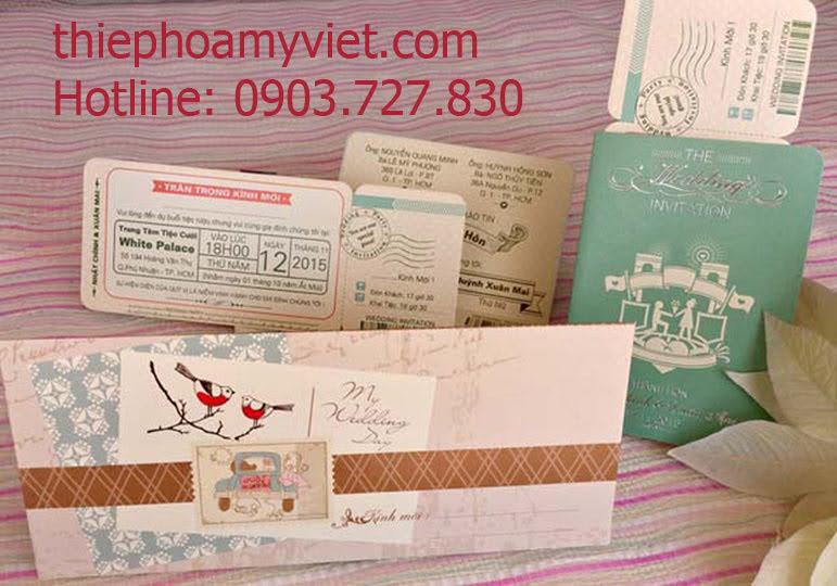 Thiệp cưới passport – Thiệp cưới hộ chiếu – Thiệp Hoa Mỹ Việt