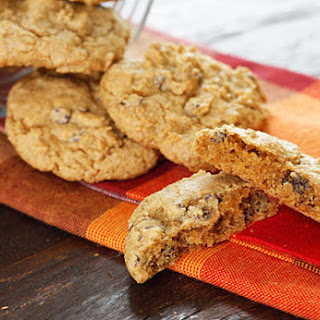 Low-fat Pumpkin Spiced Chocolate Chip Cookies.