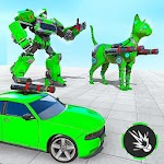 Cat Robot Car Transformation War Robot Car Games icon