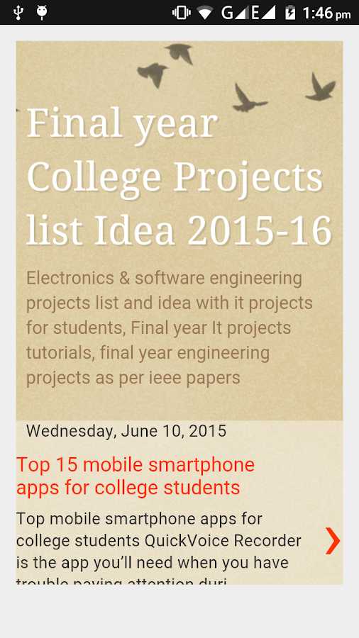 Engineering Projects Idea list- screenshot