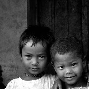 innocent by Sudhindu bikash Mandal - Black & White Portraits & People