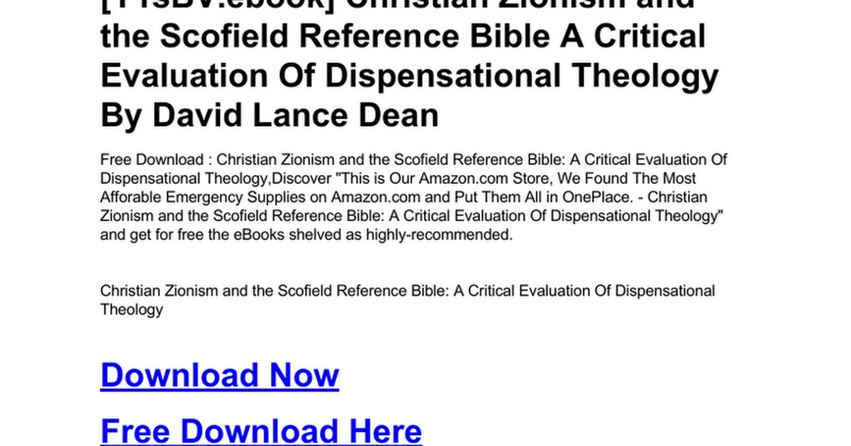 christian-zionism-and-the-scofield-reference-bible-a-critical