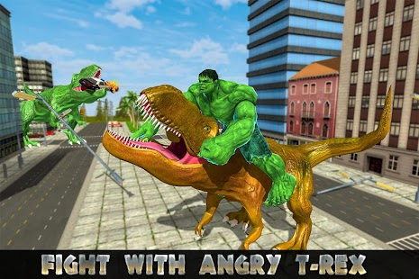 Monster Superhero vs Dinosaur Battle: City Rescue- screenshot thumbnail