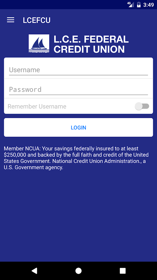 LCE Federal Credit Union- screenshot
