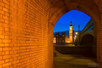 Photo: Big Ben and Houses of Parliament through Arched Passageway - London, England. © Yen Baet | www.YenBaet.com. All Rights Reserved.