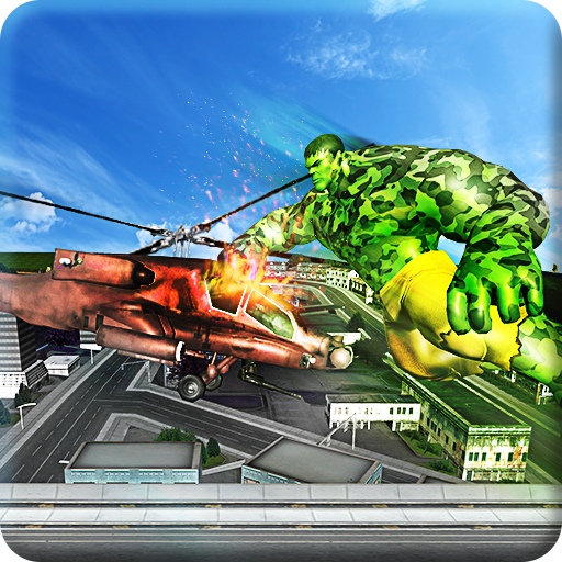 Superhero Incredible Monster Hero Army Gunship War