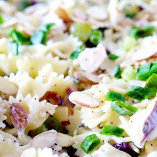 Poppy Seed Pasta Salad with Chicken, Grapes, Almonds & more!.