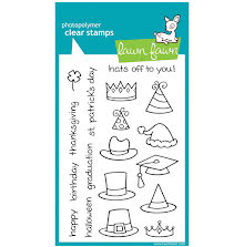 Lawn Fawn Clear Stamps 4X6 - Hats Off To You