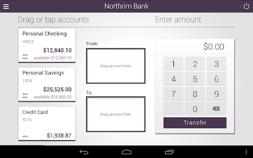 Northrim Bank - Mobile Banking- screenshot thumbnail