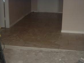 Photo: Brick pattern installation.