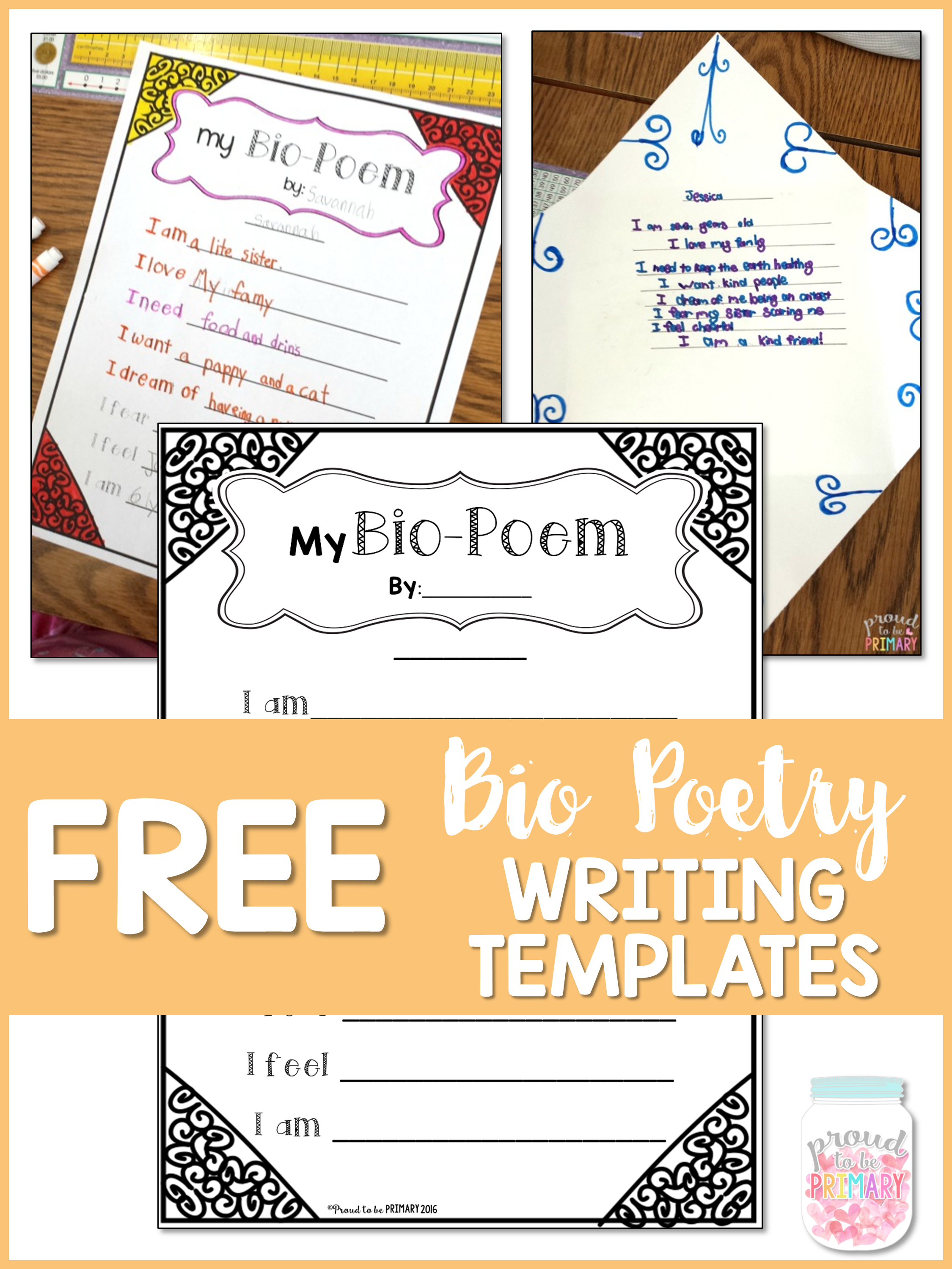 poetry writing for kids - free bio poetry writing templates