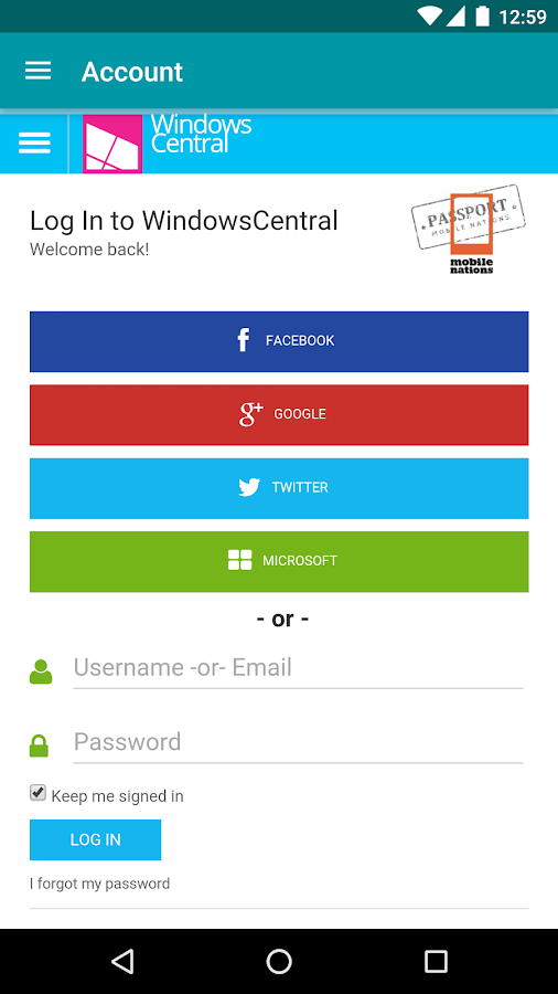 Windows Central — The app!- screenshot
