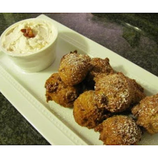 Pancetta Pumpkin Fritters With Cinnamon Whipped Cream
