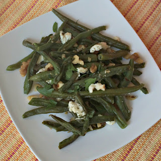 Roasted Green Beans with Feta Cheese