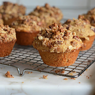 Oat Muffins with Pecan Streusel Topping.