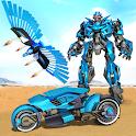 Flying Police Robot Hero Games icon