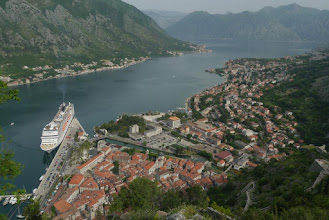 Photo: View of Kotor port and old town