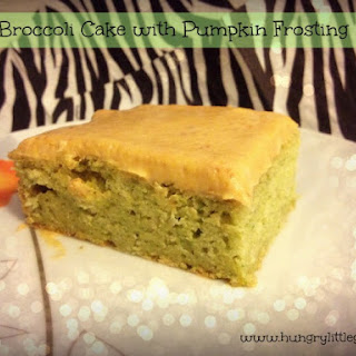 Sweet Broccoli Cake with Pumpkin Frosting.
