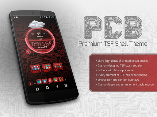PCB Red ⁞ TSF Shell Theme